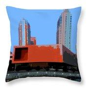 Modern Tampa Throw Pillow
