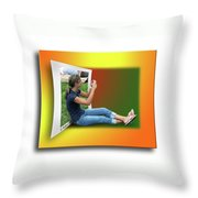 Modern Technology Throw Pillow
