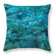 Modern Turquoise Art - Deep Mystery - Sharon Cummings Throw Pillow