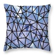 Modern Web Throw Pillow