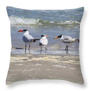 Moe And Larry And Curlie Throw Pillow