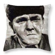 Moe Howard, Vintage Entertainer Throw Pillow