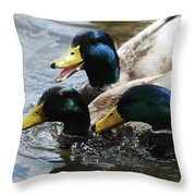 Moe Larry And Curly Throw Pillow