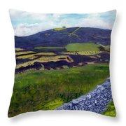 Moel Famau Hill Painting Throw Pillow