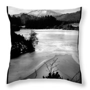 Moel Siabod Viewed From Llyn Glangors Lake Snowdonia Throw Pillow