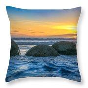 Moeraki Sunrise Throw Pillow
