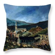 Mogimont Village Ardennes  Throw Pillow