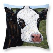Mohawk Cow Throw Pillow