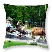 Mohonk Carriage Tour Throw Pillow