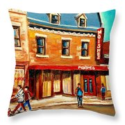 Moishes The Place For Steaks Throw Pillow