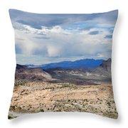 Mojave Desert Route 66 Throw Pillow