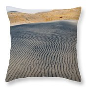 Mojave Kelso Dunes Portrait Throw Pillow