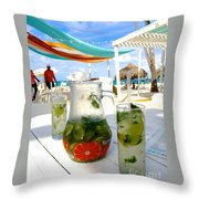 Mojitos On The Beach- Punta Cana Throw Pillow