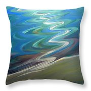 Molalla River Shore 1 Throw Pillow