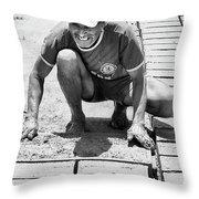 Molding Bricks Throw Pillow