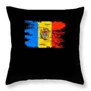 Moldova Gift Country Flag Patriotic Travel Shirt Europe Light Throw Pillow