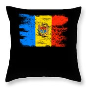Moldova Gift Country Flag Patriotic Travel Shirt Europe Light Throw Pillow