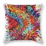 Molecular Floral Abstract Throw Pillow