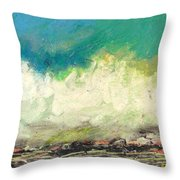 Molecules In Motion Series Throw Pillow