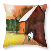 Molly And Me Throw Pillow