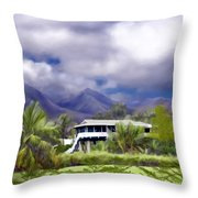 Moloa A Bay Hideaway Throw Pillow