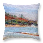 Moloa'a Beach Throw Pillow
