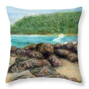 Moloa'a Rocks Throw Pillow