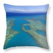 Molokai, Aerial Throw Pillow