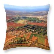 Molokai Cropland Throw Pillow