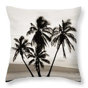 Molokai Palms Throw Pillow