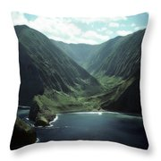 Molokai Valley Throw Pillow