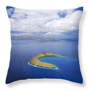 Molokini Aerial Throw Pillow