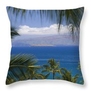 Molokini And Kahoolawe In Distance Throw Pillow