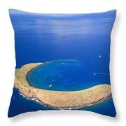 Molokini Crater Throw Pillow