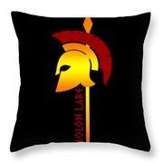 Molon Labe Spartan Helmet Warrior Spear Throw Pillow