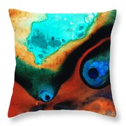 Molten Earth Throw Pillow