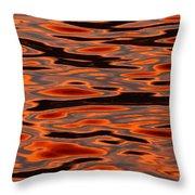 Molten Golden Waters Of The Upper Niagara Throw Pillow