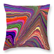 Molten Rainbow Redux Throw Pillow