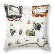 Moluccas: Spice Islands Throw Pillow