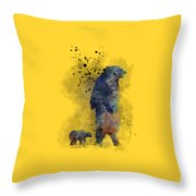 Mom And Baby Bear Throw Pillow