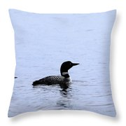 Mom And Baby Loon Throw Pillow