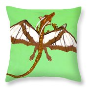Mom And Child Dragons Throw Pillow