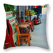 Mom And Pop Shops  Throw Pillow