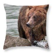 Mom Hunts Haines, Alaska Throw Pillow
