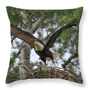 Mom Liftoff Throw Pillow