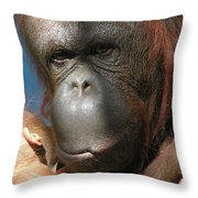 Mom Protection Throw Pillow