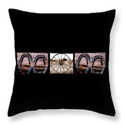 Mom Word Photography Throw Pillow