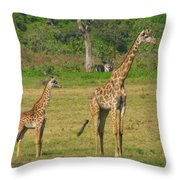 Moma And Baby Throw Pillow