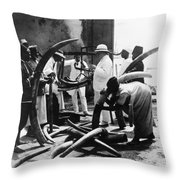 Mombasa: Ivory Trade Throw Pillow