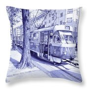 Moment In Prague - Ballpoint Pen Art Throw Pillow
